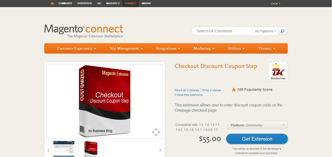 Add coupon code to magento checkout